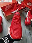 Чоловічі кросівки Nike Air Max 270 (червоні) 384PL, фото 4