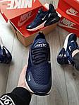 Мужские кроссовки Nike Air Max 270 (сине-белые) 389PL, фото 3