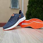 Чоловічі кросівки Nike Flyknit Lunar 3 (сіро-помаранчеві) 10119, фото 2