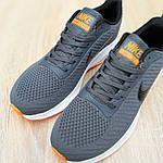 Чоловічі кросівки Nike Flyknit Lunar 3 (сіро-помаранчеві) 10119, фото 5