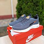 Чоловічі кросівки Nike Flyknit Lunar 3 (сіро-помаранчеві) 10119, фото 8