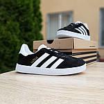 Женские кроссовки Adidas Gazelle (черно-белые) 20105, фото 5