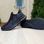 Чоловічі літні кросівки Adidas (чорні) 10120, фото 2
