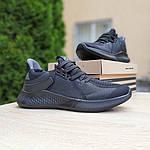 Чоловічі літні кросівки Adidas (чорні) 10120, фото 3