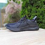 Чоловічі літні кросівки Adidas (чорні) 10120, фото 4