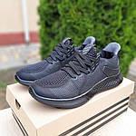 Чоловічі літні кросівки Adidas (чорні) 10120, фото 8