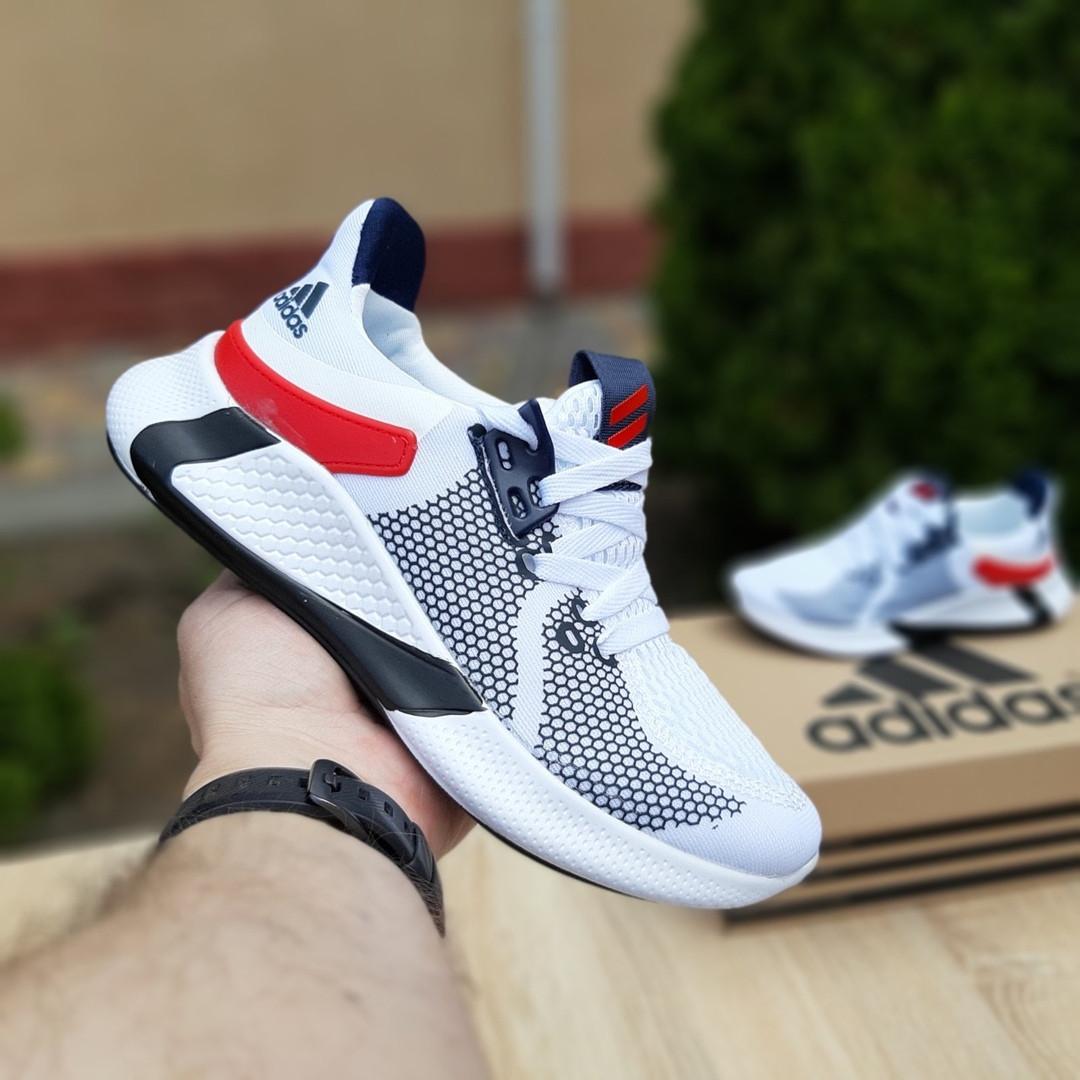 Чоловічі літні кросівки Adidas (біло-червоні) 10121