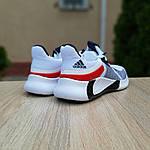 Чоловічі літні кросівки Adidas (біло-червоні) 10121, фото 2