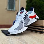 Чоловічі літні кросівки Adidas (біло-червоні) 10121, фото 4