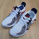 Чоловічі літні кросівки Adidas (біло-червоні) 10121, фото 6