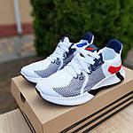 Чоловічі літні кросівки Adidas (біло-червоні) 10121, фото 7
