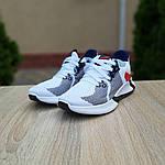 Чоловічі літні кросівки Adidas (біло-червоні) 10121, фото 8