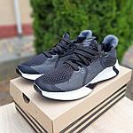 Мужские летние кроссовки Adidas (черно-белые) 10122, фото 6
