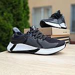 Мужские летние кроссовки Adidas (черно-белые) 10122, фото 8