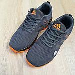 Чоловічі кросівки Adidas Marathon (сіро-помаранчеві) 10123, фото 3