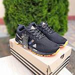 Мужские кроссовки Adidas Marathon (черно-оранжевые) 10124, фото 2