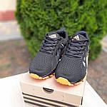 Мужские кроссовки Adidas Marathon (черно-оранжевые) 10124, фото 3