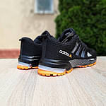 Чоловічі кросівки Adidas Marathon (чорно-помаранчеві) 10124, фото 4
