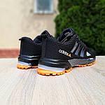 Мужские кроссовки Adidas Marathon (черно-оранжевые) 10124, фото 4