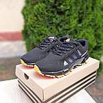 Мужские кроссовки Adidas Marathon (черно-оранжевые) 10124, фото 5