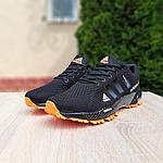 Мужские кроссовки Adidas Marathon (черно-оранжевые) 10124, фото 6