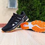 Чоловічі кросівки Adidas Marathon (чорно-помаранчеві) 10124, фото 7