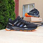 Мужские кроссовки Adidas Marathon (черно-оранжевые) 10124, фото 8