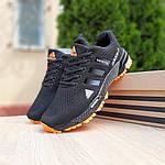 Мужские кроссовки Adidas Marathon (черно-оранжевые) 10124, фото 9
