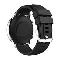 Amazfit Pace / Stratos / GTR 47 мм. Ремешок для смарт часов, Black, ширина - 22 мм., фото 4