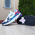 Женские кроссовки Adidas Falcon (бело-синие с красным) 20098, фото 5