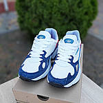 Женские кроссовки Adidas Falcon (бело-синие с красным) 20098, фото 6