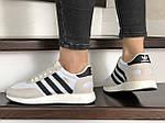 Женские кроссовки Adidas Iniki (бело-бежевые) 9287, фото 2