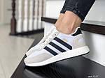 Женские кроссовки Adidas Iniki (бело-бежевые) 9287, фото 3