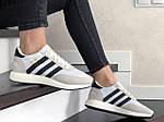 Женские кроссовки Adidas Iniki (бело-бежевые) 9287, фото 4