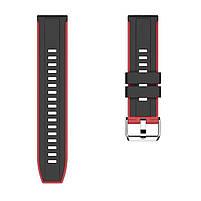 Amazfit Pace / Stratos / GTR 47 мм. Ремешок для смарт часов, Black with red, ширина - 22 мм., фото 4