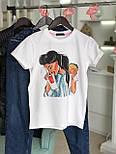 Женская хлопковая футболка с рисунком (различные варианты), фото 6