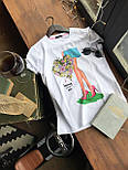 Женская хлопковая футболка с рисунком (различные варианты), фото 7