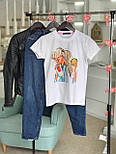 Женская хлопковая футболка с рисунком (различные варианты), фото 8