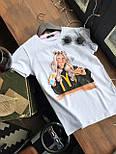 Женская хлопковая футболка с рисунком (различные варианты), фото 10