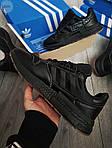 Мужские кроссовки Adidas ZX 500 RM (черные) 382PL, фото 3