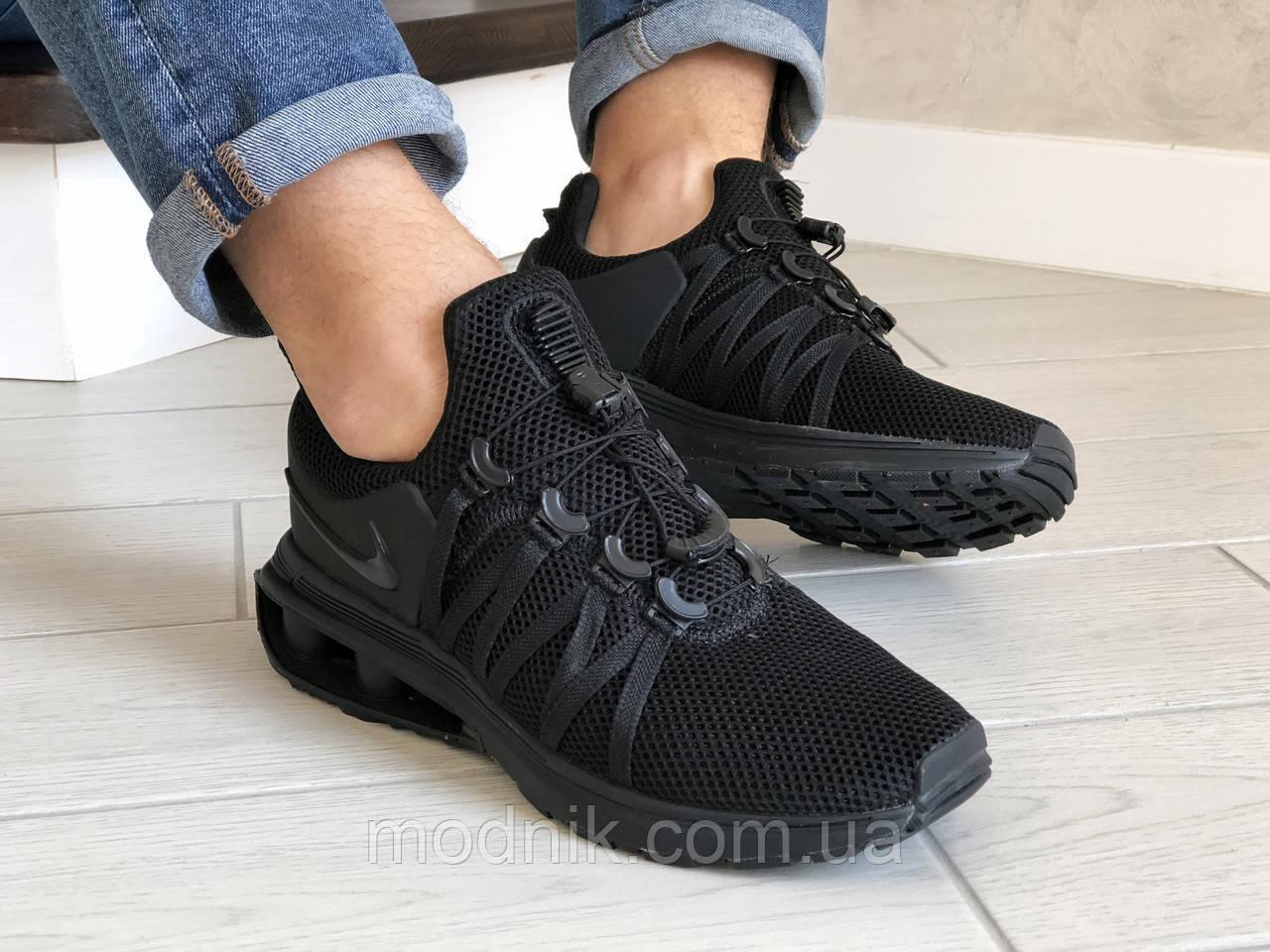 Мужские кроссовки Nike Shox Gravity (черные) 9300