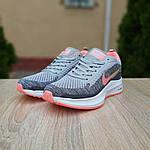 Женские кроссовки Nike Flyknit Lunar 3 (серо-розовые) 20102, фото 2