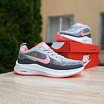 Женские кроссовки Nike Flyknit Lunar 3 (серо-розовые) 20102, фото 5