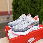 Женские кроссовки Nike Flyknit Lunar 3 (серо-розовые) 20102, фото 8