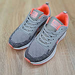 Женские кроссовки Nike Flyknit Lunar 3 (серо-розовые) 20102, фото 9