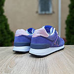 Жіночі замшеві кросівки New Balance 574 (фіолетові) 20106, фото 3