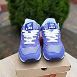 Жіночі замшеві кросівки New Balance 574 (фіолетові) 20106, фото 7