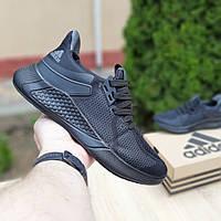 Мужские летние кроссовки Adidas (черные) 10120