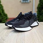 Мужские летние кроссовки Adidas (черно-белые) 10122, фото 2