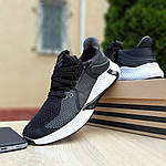 Мужские летние кроссовки Adidas (черно-белые) 10122, фото 4